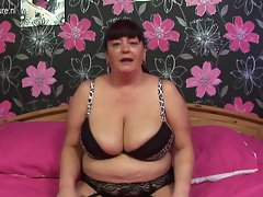 Big Granny with massive knockers loves to get fresh and crazy