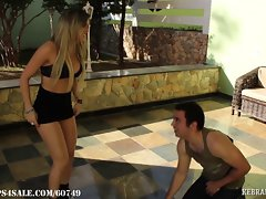 Veronica's Attractive Ballbusting Audition