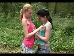 luscious outdoor lezzy saucy teens