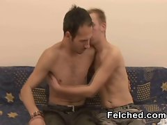 Gay Bareback With Filthy Cum Felching