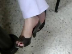 Teacher attractive mature legs feet she is married to director
