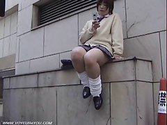 Sensual japanese School Babe Pubic Hair