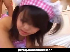 Alluring Seductive japanese maid banged by her boss uncensored