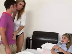 Attractive mom Seduces Shy 19 years old Girl...F70