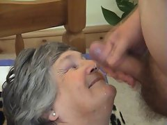 75 years aged Greedy Grandma Libby 3some
