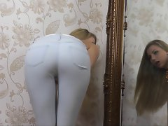 Luscious Butt in Jeans Tease - Humiliation