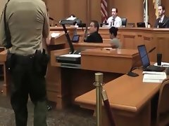 Hippy Nudist Strips Off During Court Hearing