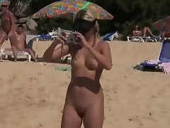 Comely Lasses nude on Beach