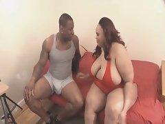 Ebony BBW-Milf wild banged