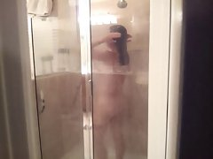 Hidden Cam of My Better half In The Shower