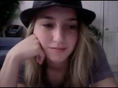 Cool light-haired webcam
