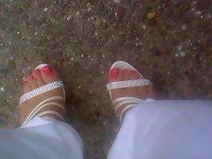 my male feet in puplic