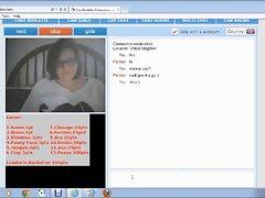 Big tit lass on webcam