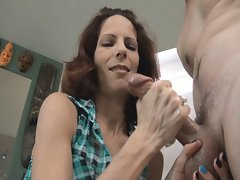 Slutty wife Handjob