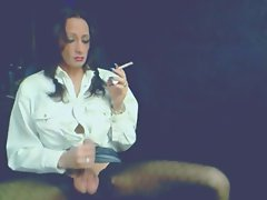 Beauteous Smokey Tgirl Caresses