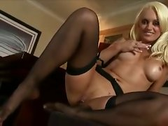 Mum in black stockings
