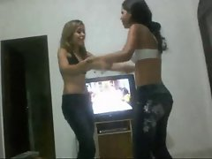 Wrestling: 2 Brazilian Barely legal teen Cute chicks