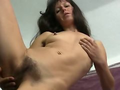 Very hairy Attractive mature Carmen toying her Snatch on the Chair