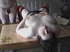 Thick Dirty wife Verena - caressed and grinded on the coffee table