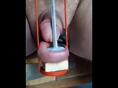 using my pecker balls 3 of 4 balls cbt