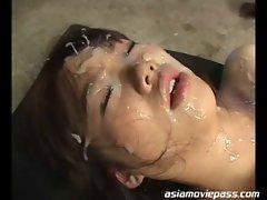 Bukkake facial tart Mai Nadasaka recieves creampie dasd-071