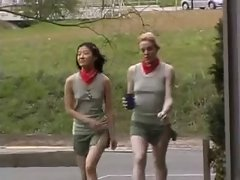 Very hairy Petite Rectal Scout And Her Asian Pal Fcuk Experienced Man