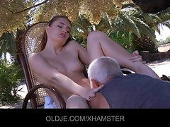 Denisa screws the Experienced man everytime she is randy