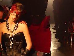 Slutty masked girlie makes sensuous love