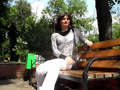 Rus crossdresser outdoor