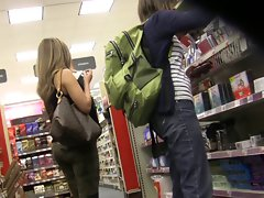 Chick with sensual dirty ass candy shopping