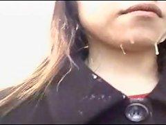 Jap Humiliation - Public Facial Cum Walk