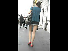 Upskirt - Russian girl in the street - 4