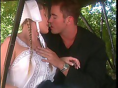 Amish blonde with perfect tits gets rammed