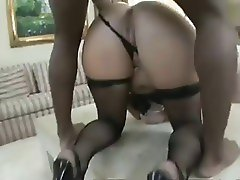 Dirty Loud Blonde takes Big Black Dick