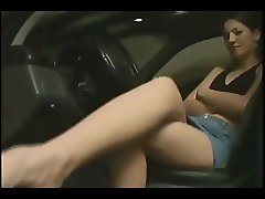 Dirty Foot Worship In Car