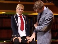 Blonde Teen School Gets Well Fucked