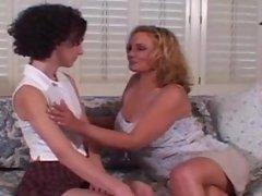 Stepmom Rebecca Bardoux makes Katerina McKenna eat her pussy