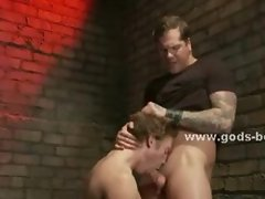 Gay slave put in the corner and spanked and tortured in bondage r
