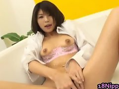 Azumi Harusaki Amazing Asian babe rubs part4