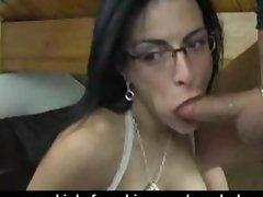 Horny french Bianca deepthroat his boyfriend