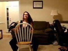 Cheating BBW wife Gina stripping