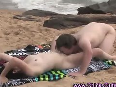 Real amateur outdoor couple oral blowjob