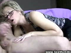 Naugthy mama plays with younger cock
