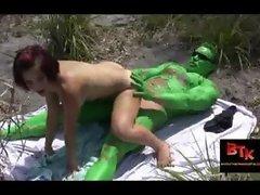 Incredible Hulk fucks a whitegirl