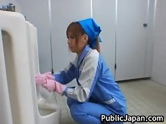 Beautiful maintenance worker part3