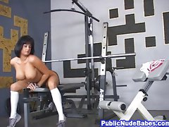 Busty Naked Chick At The Gym,Tory Lane