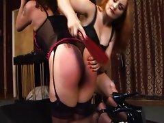 Lesbian femdom redhead mistress ruling