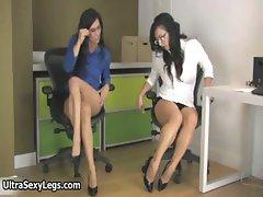 Two super hot brunette babes showing part2
