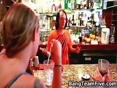 Bar hopping Bartender cumswapping part4