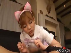 Japanese whore giving oral sex